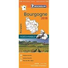 BOURGOGNE 17519 CARTE MICHELIN KAART 2018