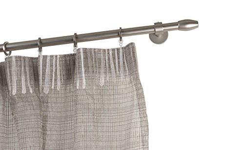 Incasa bastone per tende Ø 20 mm, l. 180 cm in acciaio satinato – completo