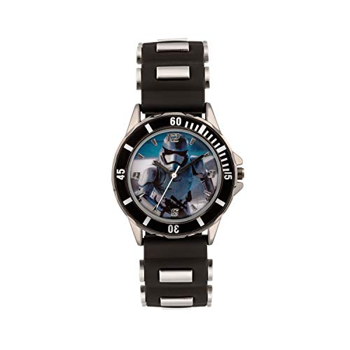 Star Wars SWM3076 - Reloj de Cuarzo para niño con dial analógico Correa de Silicona de Color Blanco