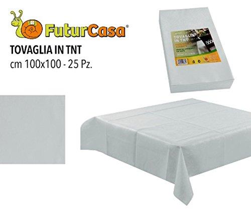 100 tovaglie monouso tnt- bianco- 100x100 cm