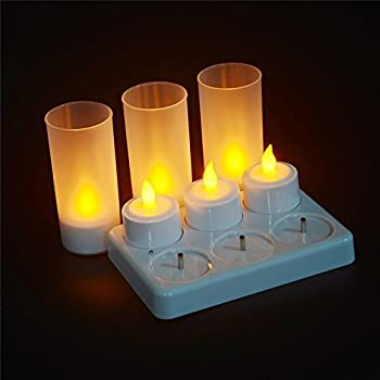 Set Of 12 Rechargeable Tea Candle Battery Lights Ideal