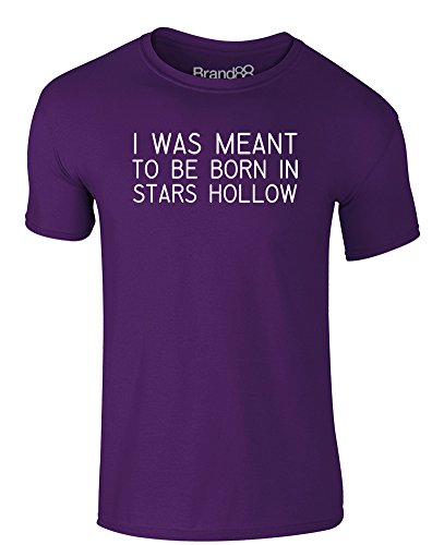 Brand88 - Born in Stars Hollow, Erwachsene Gedrucktes T-Shirt Lila/Weiß