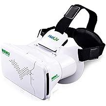 RIEM 3 VR Headset Google cartón, Realidad Virtual para 3.5-6 '' smartphones para 3D Películas Juegos, experiencia de inmersión en cualquier lugar en cualquier momento (blanco)