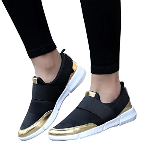WINWINTOM Laufschuhe Turnschuhe Straßenlaufschuhe Sneaker mit Damen Herren Sportschuhe, Frauen-Maschen-zufällige Müßiggänger-Breathable Flache Schuhe Weiche Laufende Schuhe Turnhallen-Schuhe