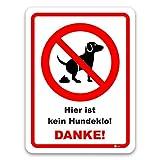 easydruck24de Hinweis-Schild Hier ist Kein Hundeklo! I Hin_228 I Größe 40 x 60 cm I Verbotsschild Keine Hundetoilette Hunde koten verboten I weiß rot schwarz