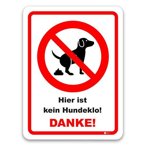 easydruck24de Hinweis-Schild Hier ist kein Hundeklo! I hin_424 I Größe 40 x 60 cm I Verbotsschild Keine Hundetoilette Hunde koten verboten I weiß rot schwarz