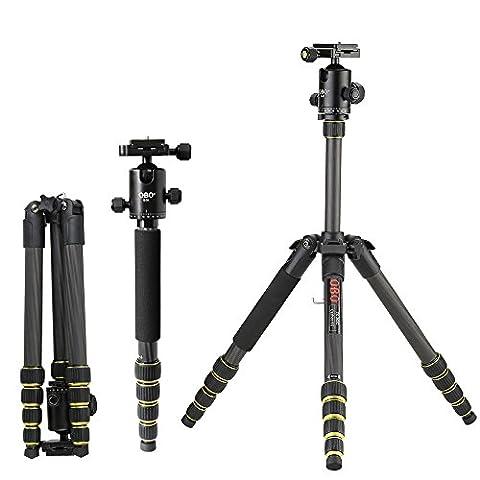 OBO Portable pliable télescopique en fibre de carbone DSLR caméra