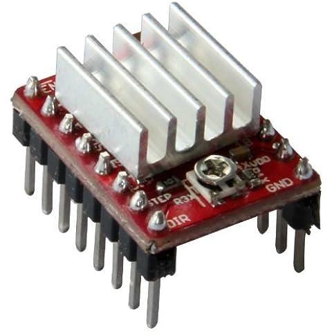 geeetech Confezione da 20pezzi A4988StepStick Stepper Motor Driver modulo + dissipatore di calore per 3d stampante RepRap