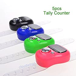 Amaze 5 Pcs High Quality Tally Counting Digital Machine Finger Watch
