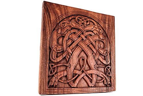 Windalf - Figura Decorativa de Madera (32 cm, Hecha a Mano), diseño Vintage de Viking Art