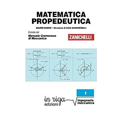 Matematica Propedeutica: Coedizione Zanichelli - In Riga (Ingegneria In Riga Vol. 1)
