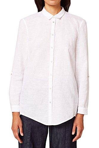 ESPRIT Damen Bluse 038EE1F031, Weiß (White 100), 42