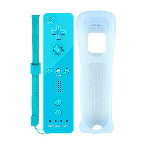 YiYunTE Motion Plus Remote Controller für Nintendo Wii und Wii U, Wirless Controller Motion Plus Fernbedienung für Nintendo Wii und Wii U mit Silikonhülle und Armband