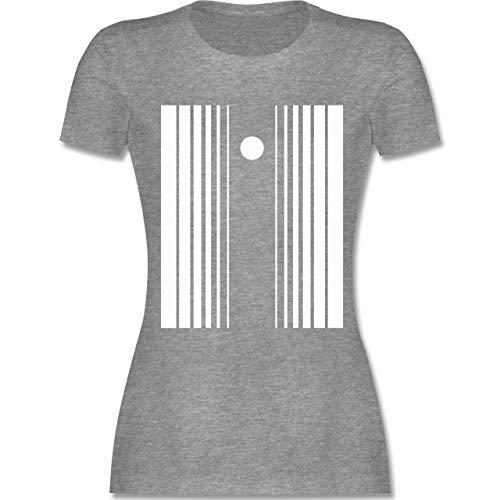Karneval & Fasching - Doppler-Effekt - XXL - Grau meliert - L191 - Damen T-Shirt ()