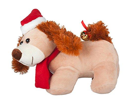 MABAMAHO Singender Plüschhund - Merry Christmas - 30 cm mit Wackelohren und Schwanz.