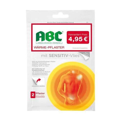 ABC Wärme-Pflaster sensitive Hansaplast med 10x14 2 St Pflaster