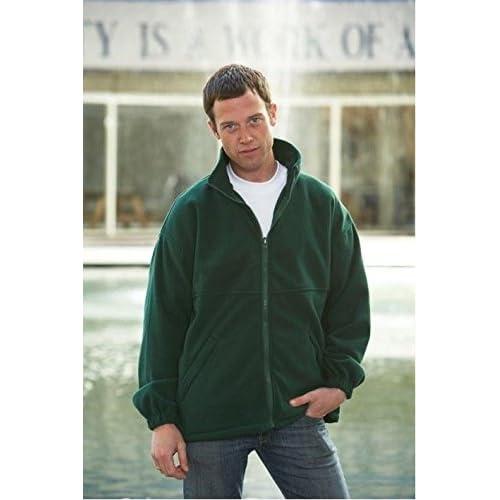 41MBdJhxGtL. SS500  - Uneek UC604 Mens Adult Classic Full Zip Micro Fleece Coat Jacket Size XS-2XL