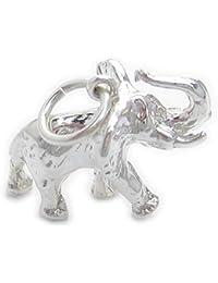a5c2690730a8 Diseño de elefante de plata de ley 925 para pulsera. 1 x colgantes de  elefantes