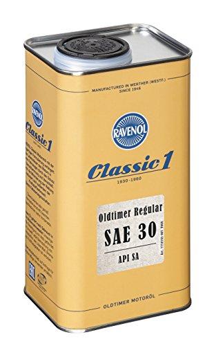 RAVENOL Oldtimer Regular SAE 30 API SA unlegiert - Motoröl für Oldtimer (1 Liter)