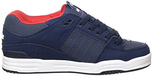 Globe Fusion, Chaussures de skateboard homme Bleu (Navy/Red)