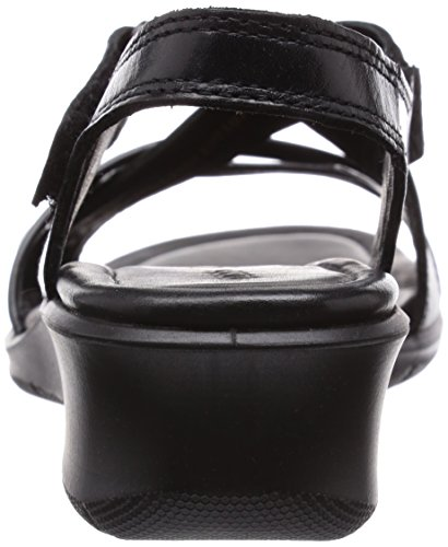 Ecco  ECCO FELICIA SANDAL, Sandales à talon compensé femme Noir (51707Black/Black)