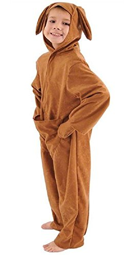 Tier Australische Kostüm - Fancy Me Mädchen Jungen Australisch Känguru Tier Buch Tag Woche Verkleidung Kleid Kostüm Outfit - Braun, 8-10 Years (140cms)