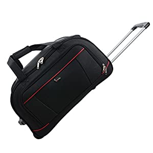 "JAM Traveller 26"" Black Holdall Trolley Bag Case Wheeled Travel Luggage Suitcase by JAM"