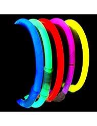 200 Pulseras luminosas glow pack multicolor ENTREGA 1-3 DÍAS