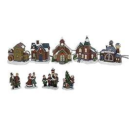 Città Natale Villaggio di Natale con Illuminazione 9-tlg