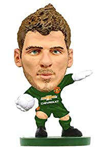 SoccerStarz SOC025 Man Utd David De GEA-Home Kit (2019 Version)/Figuras, Verde