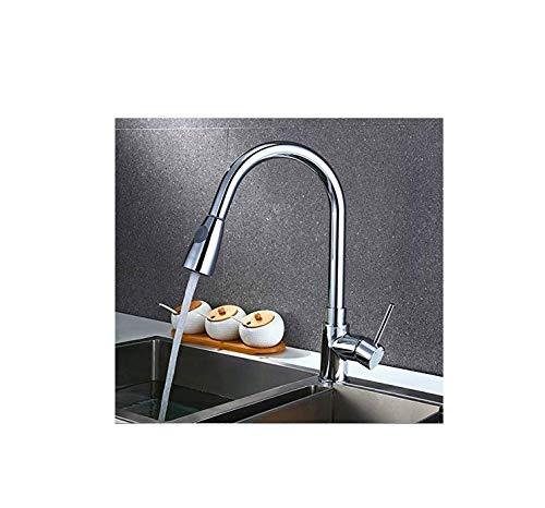 Küchenarmaturen ausziehbar Ziehen Sie flexible Schläuche Wasserhahn Schwenker Sprayer Kitchen Sink Mischbatterie Schwenkauslauf Küche herausziehen Waschbecken Wasserhahn (Wasserhahn, Ziehen Sie Den Schlauch)