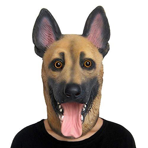 Kostüm Schäferhund Deutscher - JIAENY Halloween-Maske,Halloween Maske Masken Kostüm Partyspiel Deutscher Schäferhund Tier Latex Kopf Masken Für Halloween Kostüm