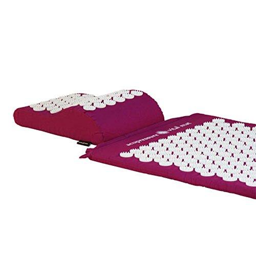 VITAL Akupressurmatten-Set (aubergine): Akupressurmatte (74 x 44cm) & Akupressurkissen im günstigen Set, vitalisierende Matte für den Rücken und Kissen für den Nacken, wohltuende Entspannungsmatte & Kissen - 3