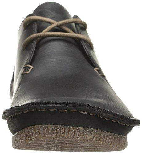 Clarks Janey Mae piatto Black Leather
