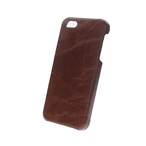 Xqisit Leder-Hartschale für iPhone 5/5S-Cognac cognac
