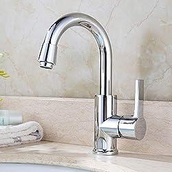 Homelody 360° Drehbar Mischbatterie Chrom Wasserhahn Küche Bad Armatur Küchenarmatur Waschbeckenarmatur