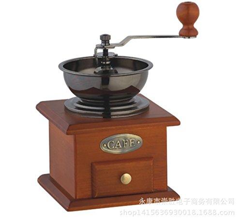 KLXEB Italienische Kaffeemaschine Hand Kaffee Mühle Mühle Kaffeebohne Maschine Manuell Haushalt Pulverisierer, 052