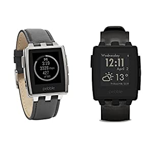 Pebble 401SLR Brushed Stainless Steel Smart Watch