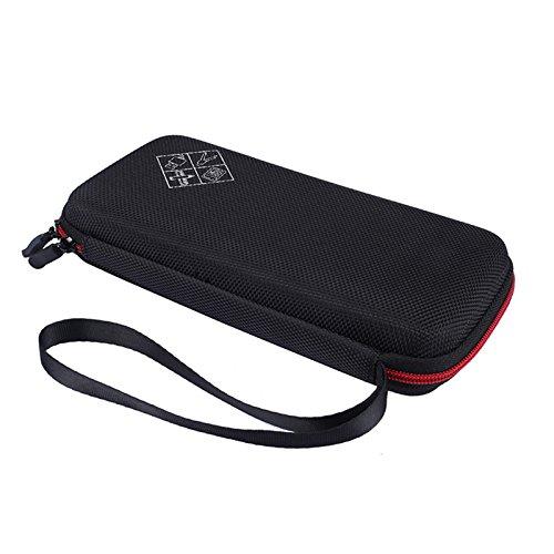 xberstar Schutzhülle für Texas Instruments TI-84ti-83Plus CE Diagramme Taschenrechner und mehr Hard-Eva Reise Tragen stoßfest Aufbewahrungstasche Black with red Zipper
