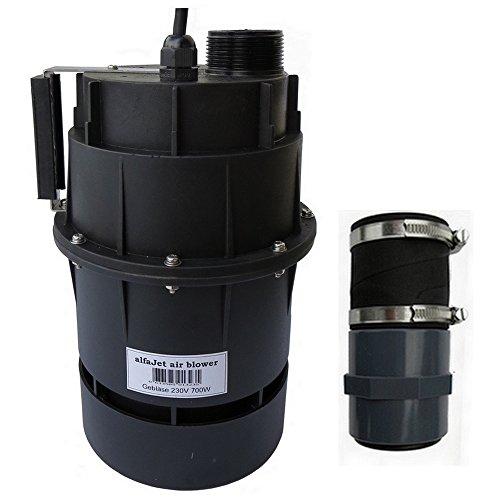 """alfa-pool Gebläse 230V 700W mit integriertem Druckwellenschalter Anschluss 1 1/2\""""/50mm Schlauchmuffe"""