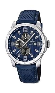 Reloj Festina F16585/3 de cuarzo para hombre con correa de piel, color azul de FESTINA
