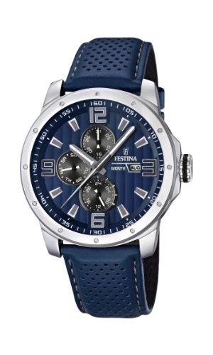 Festina Herren-Armbanduhr XL Analog Quarz Leder F16585/3