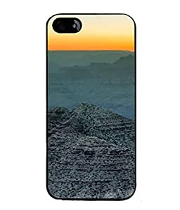 Snapdilla Designer Back Case Cover for Apple iPhone 5 (Brown Sunrise Himalayas Beauty Wallpaper)