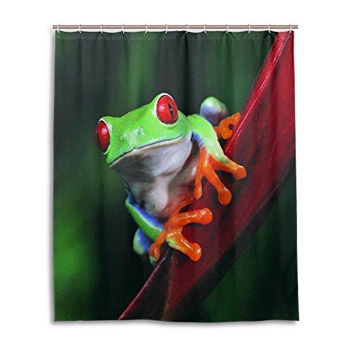jstel Decor Duschvorhang Frosch Muster Print 100% Polyester Stoff Vorhang für die Dusche 152,4x 182,9cm für Home Badezimmer Deko Dusche Bad Vorhänge (Nautische Outdoor-vorhänge)