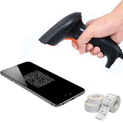 QR Barcode Scanner Handheld QR Code Leser Sensitive Smartphone USB Wired 2D Barcode Scanner Automatische Fixed Digital Laser Optisch Portable Inventar Barcode Scanner für Mac ipad iphone ios … (2D 1D scanner) (Code Leser-scanner)