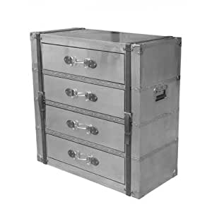 Chest Of Drawers Spilsby Made Of Aluminium Stainless Steel And Leather Kitchen Home