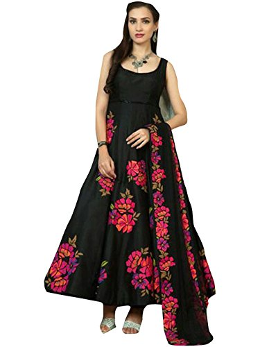 Fancy Wear Women\'s Black Banglory Indo-Western Salwar [SL 86 (FW_18)]