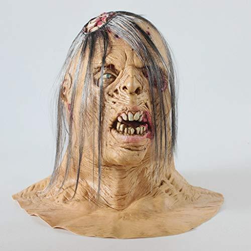 Maske Deluxe Terror Ein Ghost Chasing Maske Gehirn Belichtung Zombie Head Latex Spielzeugtier Kopf Maske Für Lustige ()