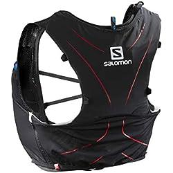 Salomon L39267700 ADV Skin 5 Set Zaino Leggero Idrico per Corsa/Escursionismo, Capacità di 5 l, Nero/Rosso, M/L