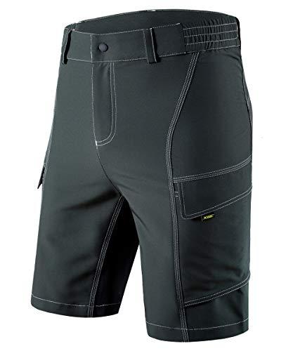 XGC Herren Radhose Radlerhose Fahrradhose,Atmungsaktiv Sports MTB Kurz Hose für Männer (Green, 2XL)